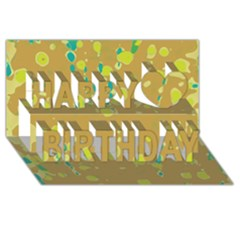 Digital Art Happy Birthday 3d Greeting Card (8x4)