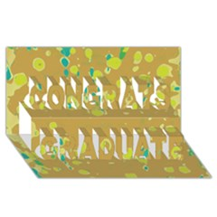Digital Art Congrats Graduate 3d Greeting Card (8x4)