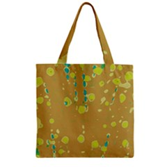 Digital Art Zipper Grocery Tote Bag by Valentinaart