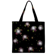 Silver Balls Zipper Grocery Tote Bag by Valentinaart