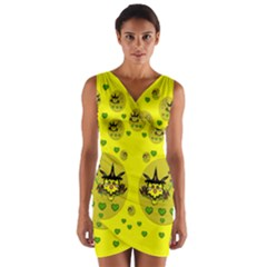 Wizard Mice In Fairy Dust Popart Wrap Front Bodycon Dress