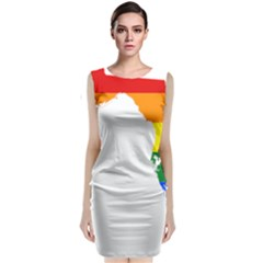 Lgbt Flag Map Of Florida Classic Sleeveless Midi Dress