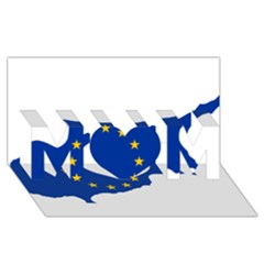 European Flag Map Of Cyprus  Mom 3d Greeting Card (8x4)