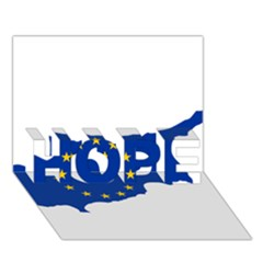 European Flag Map Of Cyprus  Hope 3d Greeting Card (7x5) by abbeyz71