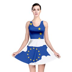 European Flag Map Of Cyprus  Reversible Skater Dress