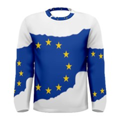 European Flag Map Of Cyprus  Men s Long Sleeve Tee