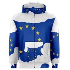 European Flag Map Of Cyprus  Men s Zipper Hoodie
