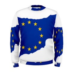 European Flag Map Of Cyprus  Men s Sweatshirt