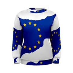 European Flag Map Of Cyprus  Women s Sweatshirt