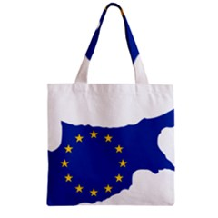 European Flag Map Of Cyprus  Zipper Grocery Tote Bag