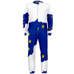 European Flag Map Of Cyprus  Onepiece Jumpsuit (men)