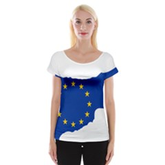 European Flag Map Of Cyprus  Women s Cap Sleeve Top