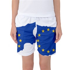 European Flag Map Of Cyprus  Women s Basketball Shorts