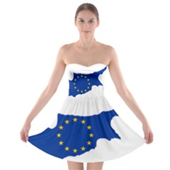 European Flag Map Of Cyprus  Strapless Dresses