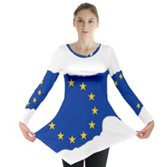 European Flag Map Of Cyprus  Long Sleeve Tunic