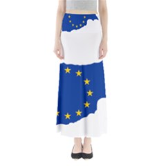 European Flag Map Of Cyprus  Maxi Skirts