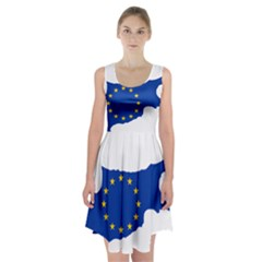 European Flag Map Of Cyprus  Racerback Midi Dress