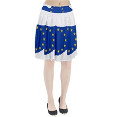 European Flag Map Of Cyprus  Pleated Skirt