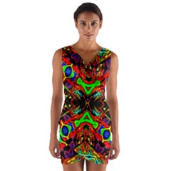 Uk,  (4),ujjollyuj Wrap Front Bodycon Dress by MRTACPANS