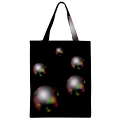 Silver Pearls Zipper Classic Tote Bag by Valentinaart