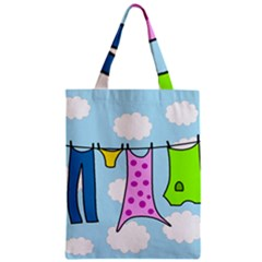 Laundry Zipper Classic Tote Bag by Valentinaart