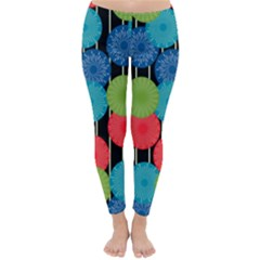 Vibrant Retro Pattern Winter Leggings