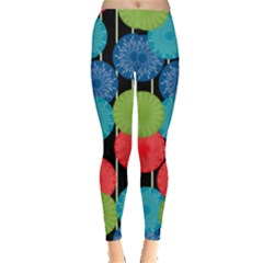 Vibrant Retro Pattern Leggings