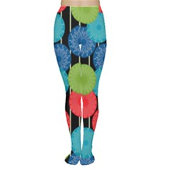 Vibrant Retro Pattern Tights