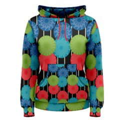 Vibrant Retro Pattern Women s Pullover Hoodie by DanaeStudio