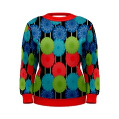Vibrant Retro Pattern Women s Sweatshirt by DanaeStudio