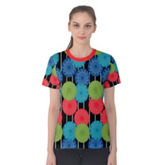 Vibrant Retro Pattern Women s Cotton Tee