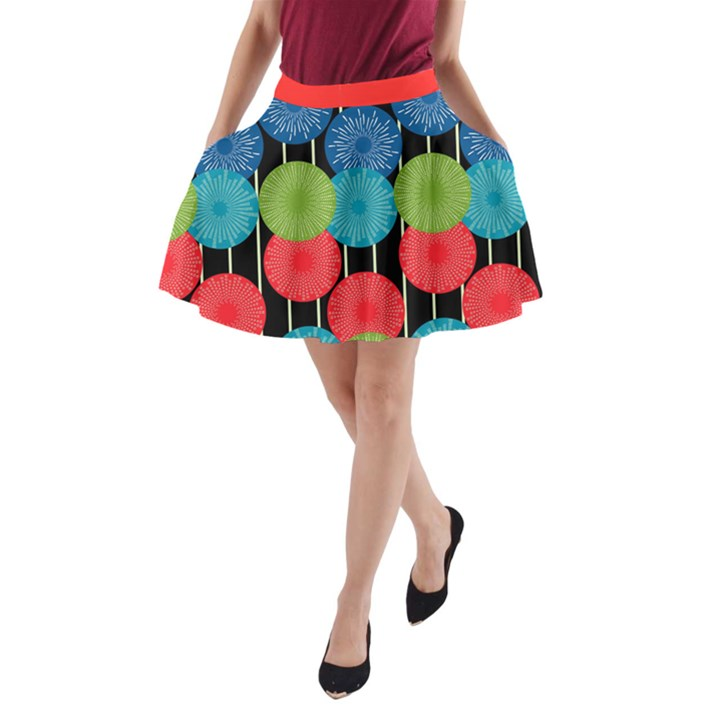 red A-Line Pocket Skirt