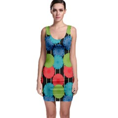 Vibrant Retro Pattern Bodycon Dress
