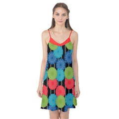 Vibrant Retro Pattern Camis Nightgown