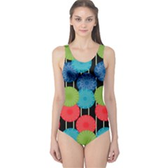 Vibrant Retro Pattern One Piece Swimsuit