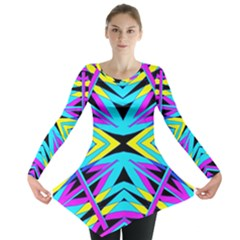 Art Off Wall Long Sleeve Tunic