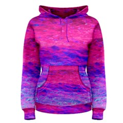 Pink And Blue Water Women s Pullover Hoodie
