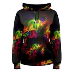 Bright Multi Coloured Fractal Pattern Women s Pullover Hoodie