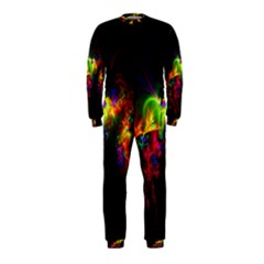 Bright Multi Coloured Fractal Pattern Onepiece Jumpsuit (kids) by traceyleeartdesigns