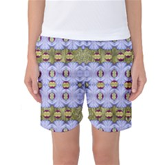Soul Flower Women s Basketball Shorts by pepitasart