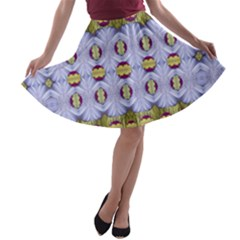 Soul Flower A Line Skater Skirt by pepitasart