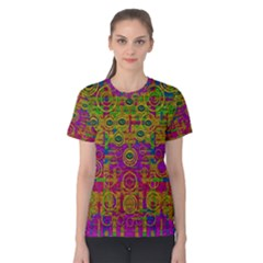 Carpe Diem In Rainbows Women s Cotton Tee by pepitasart
