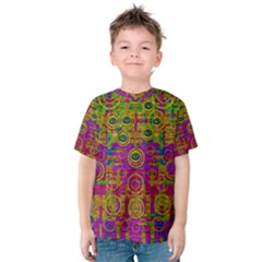 Carpe Diem In Rainbows Kid s Cotton Tee by pepitasart
