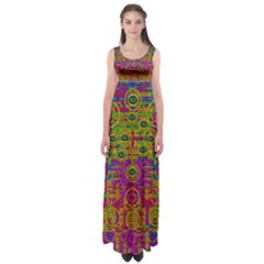 Carpe Diem In Rainbows Empire Waist Maxi Dress by pepitasart