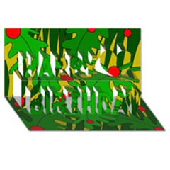 In The Jungle Happy Birthday 3d Greeting Card (8x4) by Valentinaart