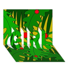 In The Jungle Girl 3d Greeting Card (7x5) by Valentinaart