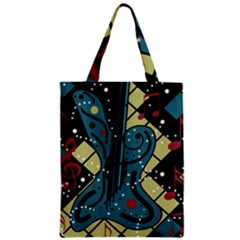 Playful Guitar Zipper Classic Tote Bag by Valentinaart