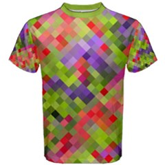 Colorful Mosaic Men s Cotton Tee by DanaeStudio