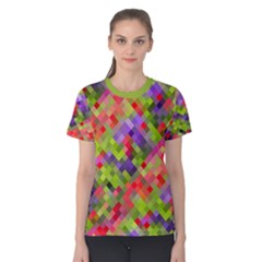 Colorful Mosaic Women s Cotton Tee by DanaeStudio