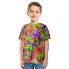 Colorful Mosaic Kid s Sport Mesh Tee